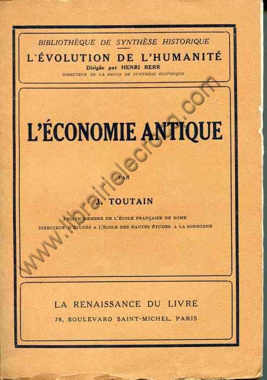 TOUTAIN J., L'économie antique
