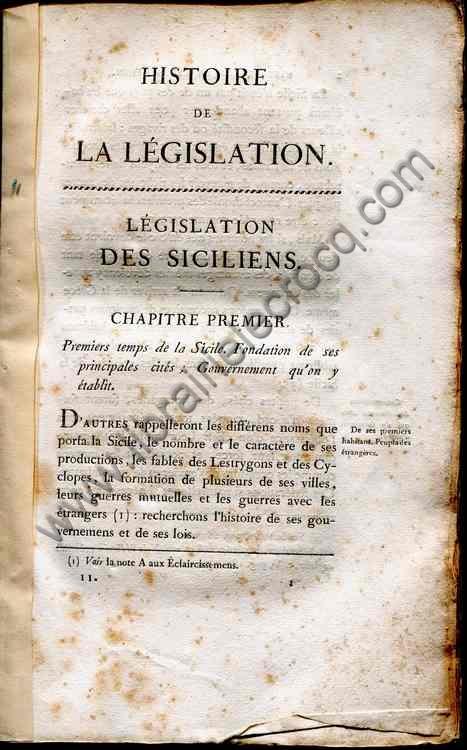 DE PASTORET M. le Marquis, Histoire de la législati...
