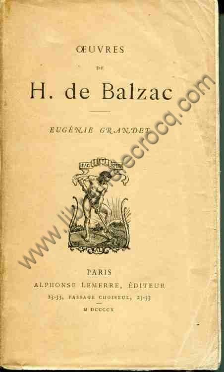 BALZAC H. de, Eugénie Grandet