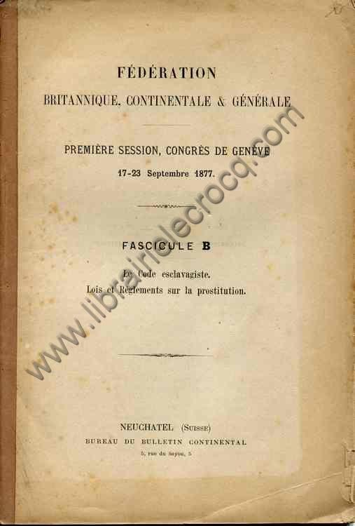 FEDERATION BRITANNIQUE, CONTINENTALE & GENERALE , Pr...