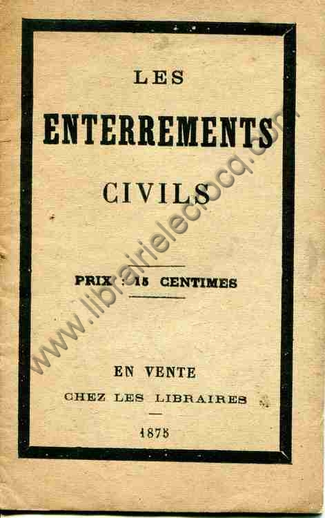 ANONYME  Les enterrements civils