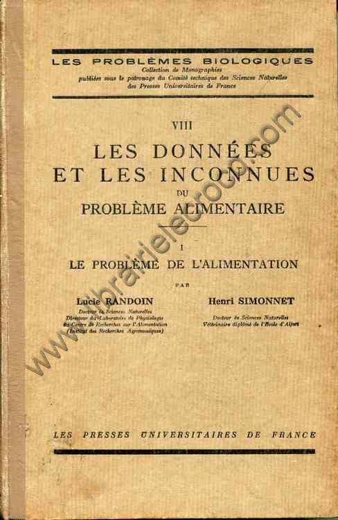 RANDOIN (Lucie), SIMONNET (Henri)  .  Les données e...