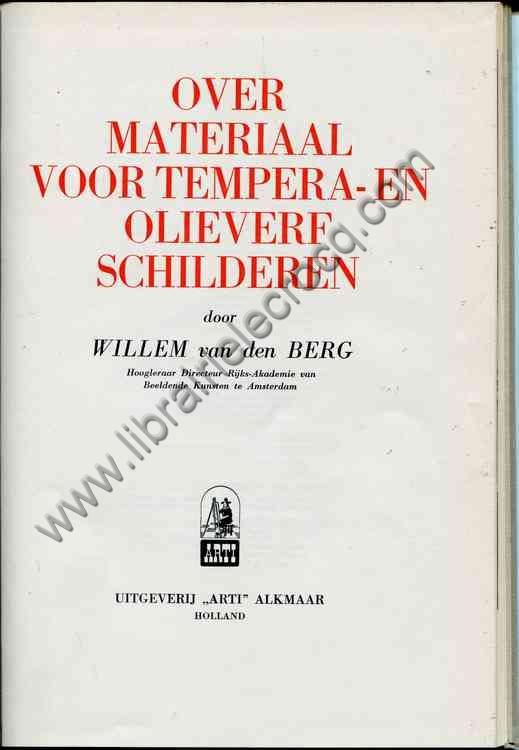 VAN DEN BERG Willem, Essai sur la peinture à la dé...