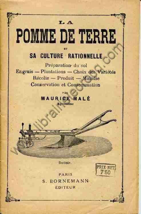 MALE Maurice, La pomme de terre et sa culture ration...