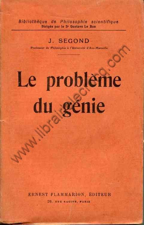 SEGOND J., Le problème du génie