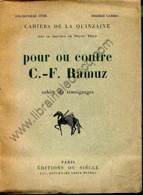 (RAMUZ) - POULAILLE (Henry) , POURRAT (Henri) , CING...