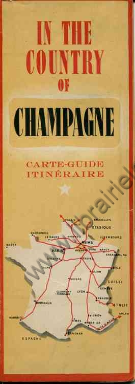 CHAMPAGNE WINE , In the country of Champagne . Carte...