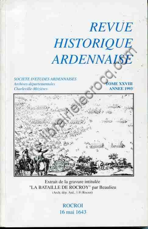 REVUE HISTORIQUE ARDENNAISE TOME XXVIII ANNEE 1993 ,...