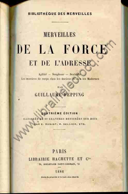 DEPPING Guillaume, Merveilles de la force et de l'ad...