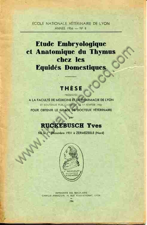 RUCKEBUSCH Yves, Etude embryologique et anatomique d...
