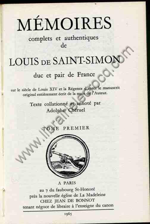 SAINT-SIMON Louis de, Mémoires complets et authenti...