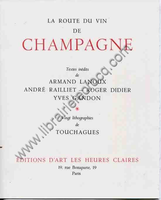 LANOUX (ARMAND), RAILLIET (André), DIDIER (Roger), ...