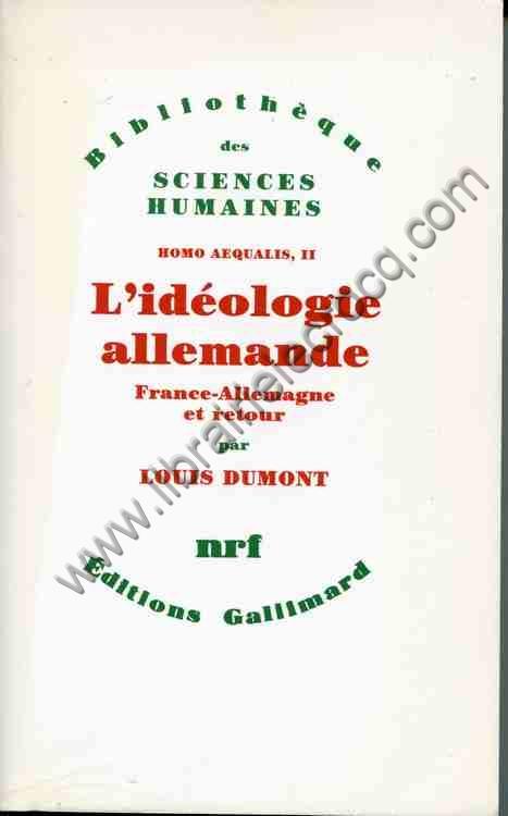 DUMONT Louis, L'idéologie allemande France-Allemagn...