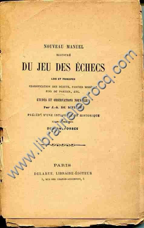 DE RIVIERE (J.-A.) , Nouveau manuel illustré du jeu...
