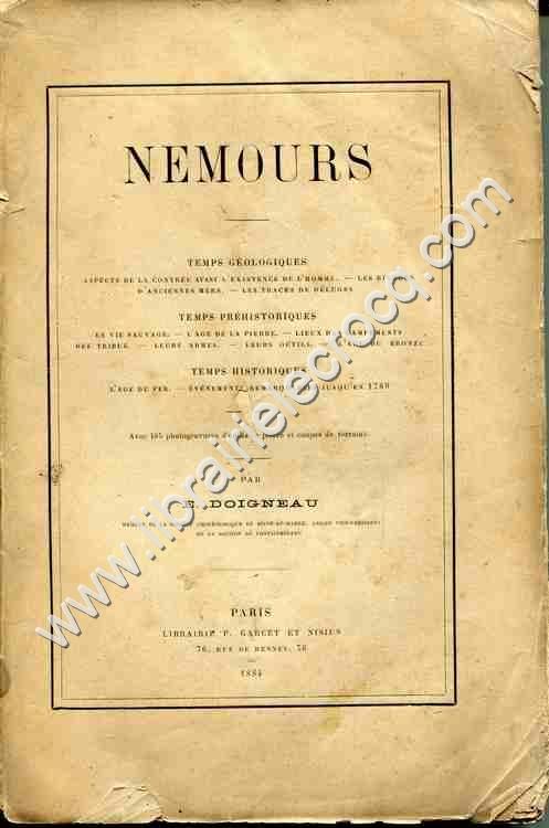 DOIGNEAU E., Nemours . Temps géologiques . Temps pr...