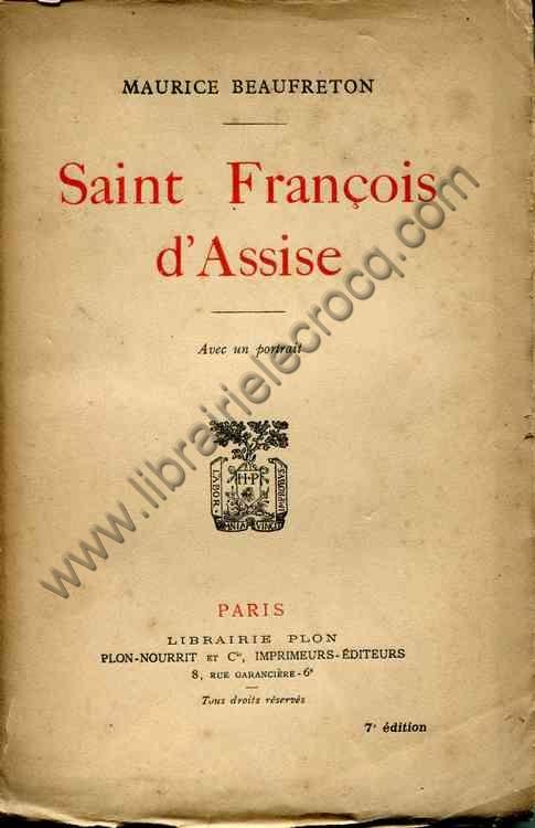 BEAUFRETON Maurice, Saint-François d'Assise - Avec ...