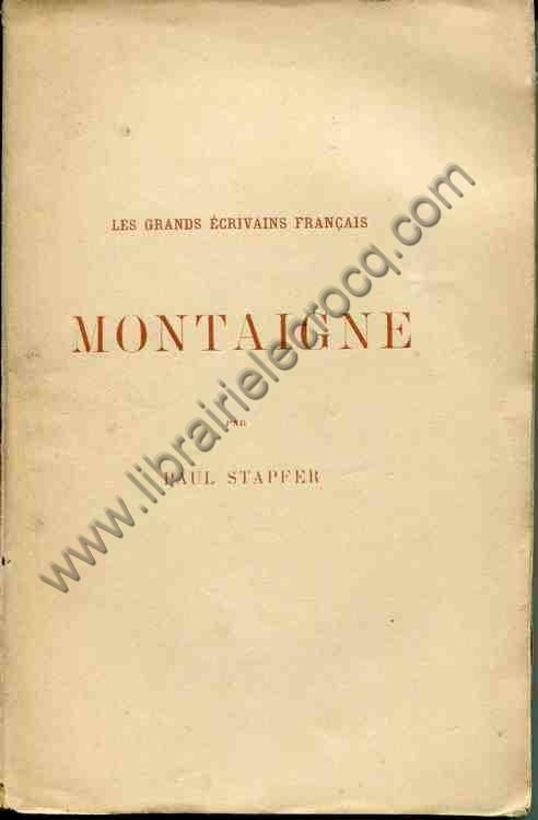 STAPFER Paul, Montaigne