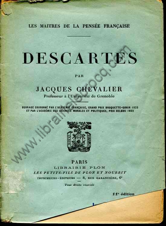 CHEVALIER Jacques, Descartes