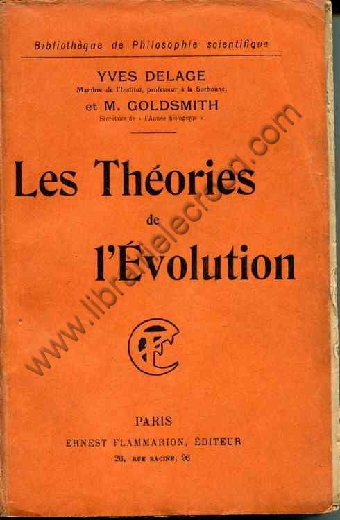 DELAGE (Yves) , GOLDSMITH M. .  Les théories de l'�...